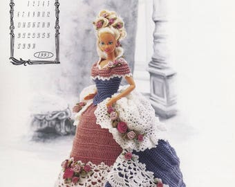Miss June 1993, Annie's Victorian Lady Centennial Crochet Doll Clothes Pattern Booklet 7606