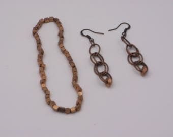 Copper Earring and Bracelet Set