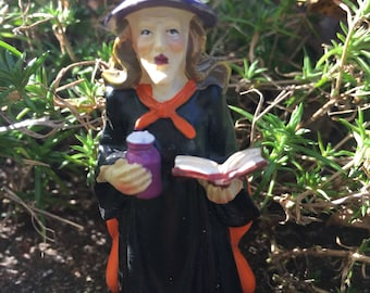Miniature Fairy Garden Witch, Miniature Witch, Halloween Witch, Miniature Witch Figure