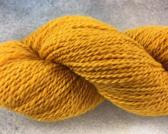 Yellow hand dyed alpaca blend yarn