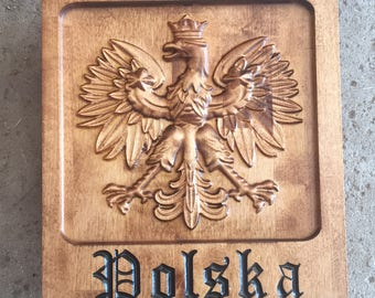 Carved Polish Eagle Polska