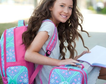 GIRLS personalized backpack , Back To School , kids backpack , lunch box, monogrammed backpack , girls backpack, MARLEE