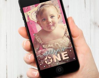 Twinkle Twinkle Little Star First Birthday Geofilter, Kids Birthday Snapchat Filter, Kids Birthday Geofilter, Birthday Snapchat Geofilter