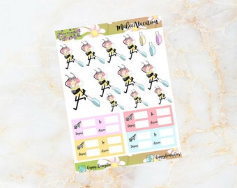 MABEE: Vacation, Flight, Holidays stickers for your planner