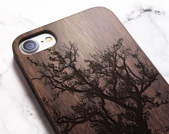 Real Wood iPhone 8 tree case also for X SE 5s 5 6 6s 7 and 7 Plus 8 Plus Case iPhone 8 Case Samsung Galaxy S6 S7 S8 Plus Real Wood