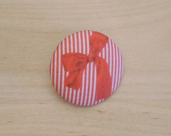 x 1 38mm button fabric bow ref A38