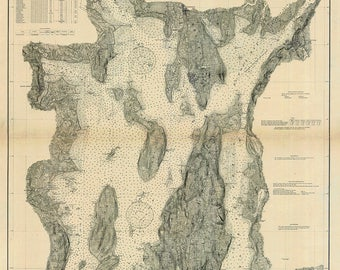 1906 Nautical Map of Narragansett Bay Rhode Island