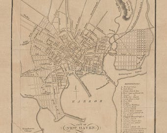 1850 Map of New Haven New York