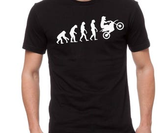 Motocross Dirtbike Evolution T-Shirt Gift