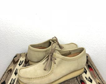 clarks wallabee suede leather shoes size 11.5