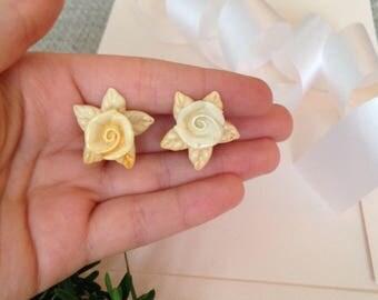 Bridal Earrings Flower - Bridal Earrings - Bride Earrings - Wedding Earrings - Wedding Jewelry - Flower Jewelry - Floral Jewelry - Vintage