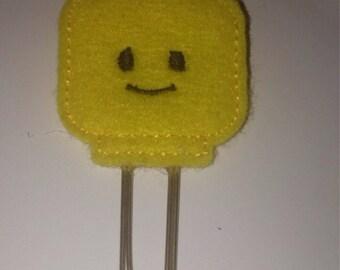 Cute lego head planner clip cute planner clip