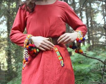 Wanderer Dress // Vintage 1990's Handmade Kuchi Dress