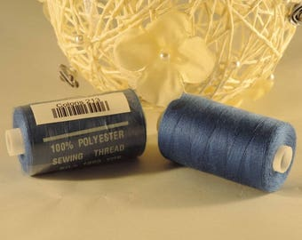 Spool of thread sewing 100% polyester each containing 1000 yards (approx. 914 m) / 213 Cornflower