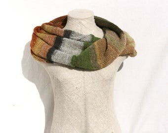 Infinity scarf machine knit by Inese in Latvia fluffy soft warm scarf mohair knit wrap pastel winter gift Frozen Lily Pond