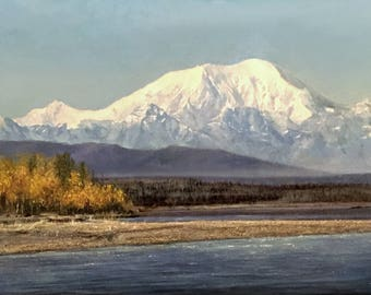 Alaska Art, Denali painting, Landscape art, Gallery-wrap canvas