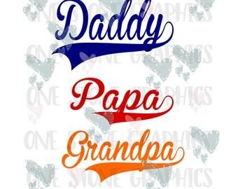 Daddy banner svg,papa banner svg,grandpa banner svg,Daddy svg, fathers day, Dad,new dad, fathers svg, daddy svg