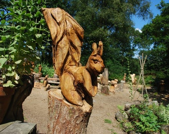 Chainsaw Carving Squirrel