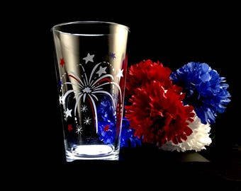 Customizable Fireworks Glasses