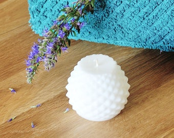 2 Rose scented candles, Geometric candle, Decoration Restaurant Table, decor Garden, Bathroom decor, Wellness, shaped canldes