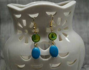 "Earrings ""Pearl and turquoise"""