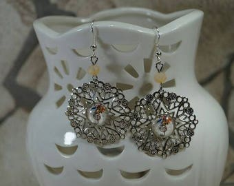 "Earrings filigree ""bird music note"""