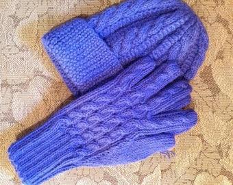 Hat & Gloves set: Alpaca