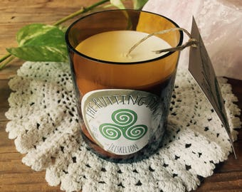 Triskelion - Handmade Soy Wax Beer Bottle Candle