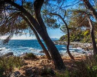 photography landscape of the sea in cap d'Antibes in the Maritime Alps