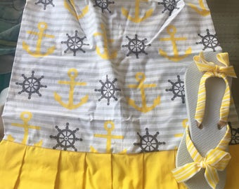 Pillowcase dresses w/ flip flops