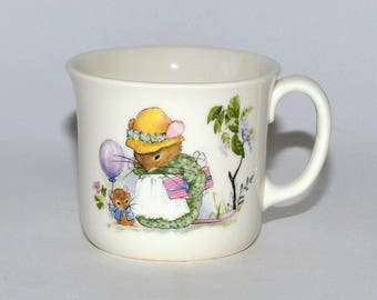 "Vintage Royal Kent Bone China ""Mouse Party"" Childs Mug"