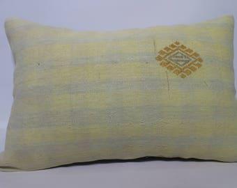 16x24 Lumbar Kilim Pillow Turkish Kilim Pillow 16x24 Handwoven Kilim Pillow Decorative Kilim Pillow Home Decor Cushion Cover SP4060-1067