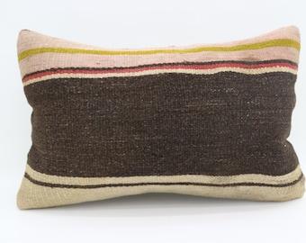 16x24 Pillow Cover Striped Kilim Pillow Multicolor Kilim Pillow 16x24 Pillow Brown Pillow Throw Pillow Boho Pillow Sofa Pillow SP4060-1394