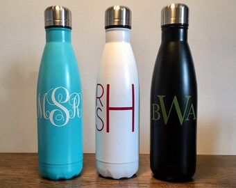 Monogramed Vacuum Insulated Stainless Steel Water Bottle