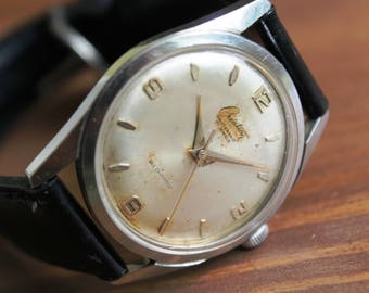 SWISS made watch CREATION-1960's, 17 Jewels, Swiss watch, All Stainless Steel, Waterproof, mechanical watch, Antimagnetic, Mens Wrist Watch