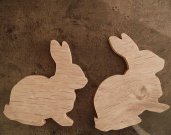 My bunnies - ready to decorate wooden stand