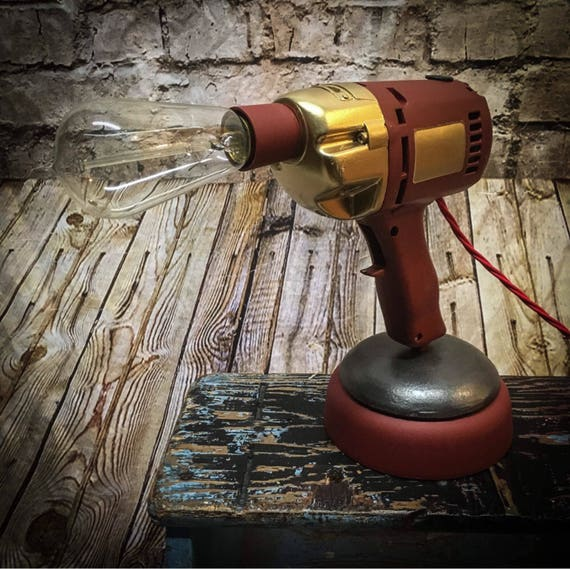 Vintage Drill Table Lamp
