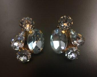 Vintage Austrian clip on earrings