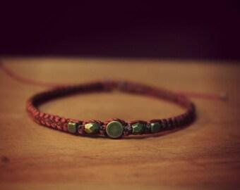 Cherry Bracelet Bead in brass and bronze