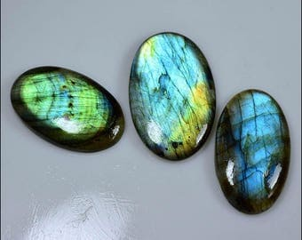 set of cabochons of Labradorite with nice reflection