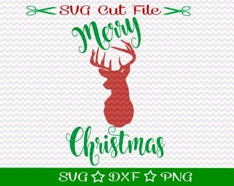 Christmas SVG File, Merry Christmas Deer SVG, Happy Holidays svg, Merry Christmas svg, Country Christmas Svg, Rustic Christmas Svg