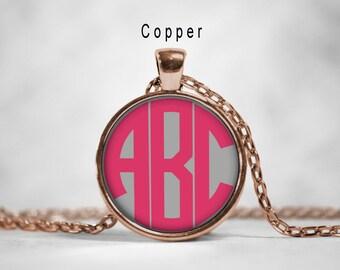 Monogram Necklace,Personalized Pendant,Initial Pendant,Name Pendant,Personalized Necklace,Name Monogram