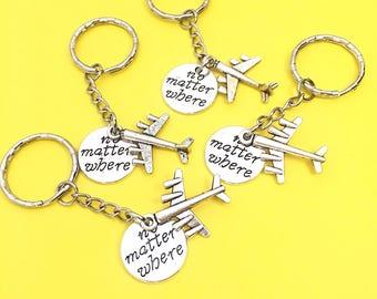 Four Friends, Friendship Keychain Gifts,Best friends keychain - set of four, bff charm, 4 bff keychain, set of 4 best friend Distance