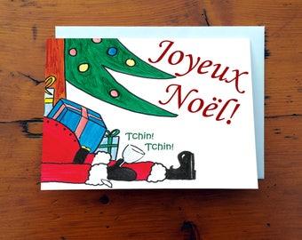 Carte de noël drôle - Joyeux Noël!