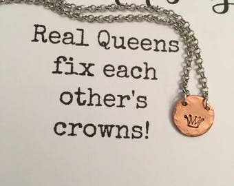 Real queens fix each other's crowns!