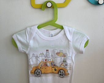 Kids NYC Taxi Dog Onesie!   Adorable baby onesie size 0 - 18m