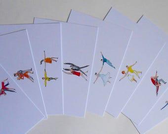 Dancers notecards (Pack of 8)