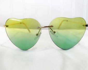 Yellow & Green Fade Sunglasses