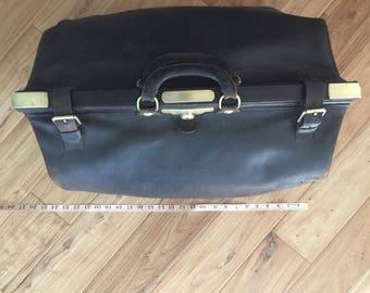 Antique Gladstone leather bag