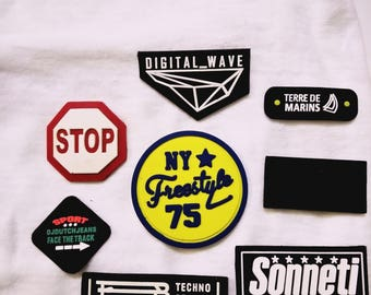 50 custom rubber patch